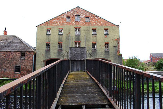 Haven Mill sits derelict opposite the site for the new leisure complex